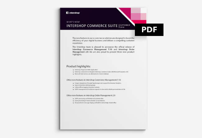 Intershop Commerce Management 7.10 und Order Management 2.9