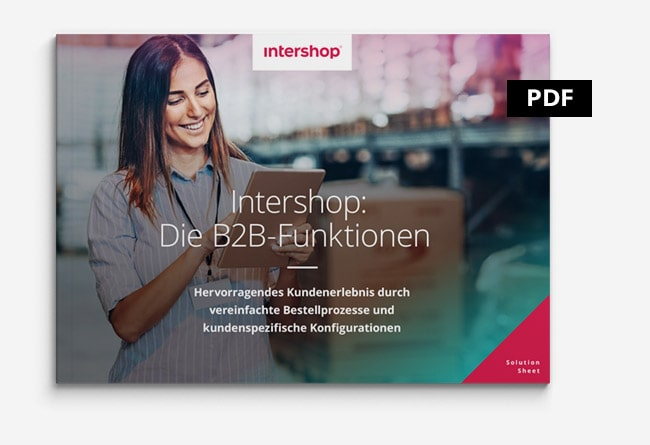 Intershop die B2B Funktionen